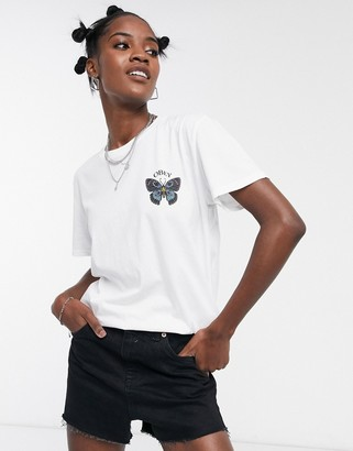 Obey oversized t-shirt with butterfly logo graphic