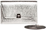 Akris Large Anouk Envelope Metallic Leather Crossbody Bag