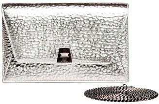 Akris Large Anouk Envelope Metallic Leather Crossbody Bag