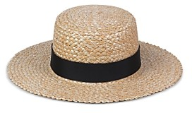 LACK OF COLOR Rico Zigzag Boater Hat