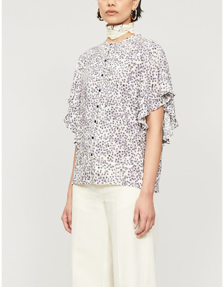 Zadig & Voltaire Tagi floral-print crepe top