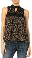 Miss Me Women's Lace Floral Tank