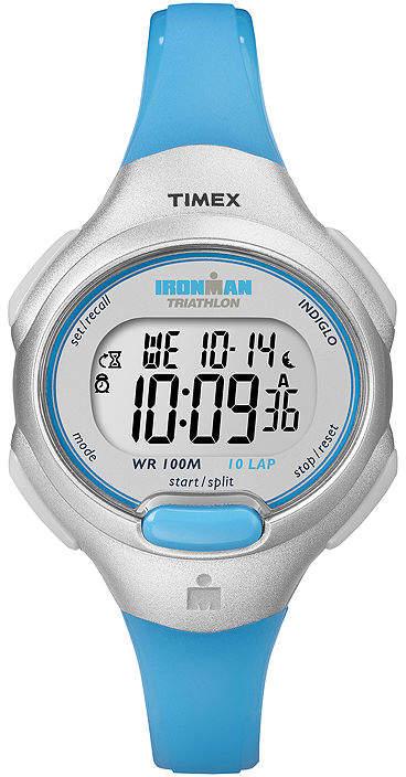 Timex Ironman Womens Blue Resin Strap Chronograph Sport Watch T5K739