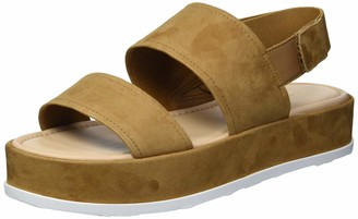 Via Spiga Womens V-Gabourey Toffee City Sandals 9.5 M
