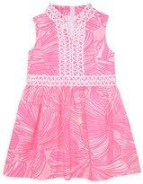 Lilly Pulitzer Little Girl's & Girl's Franci Palm Leaf A-Line Dress