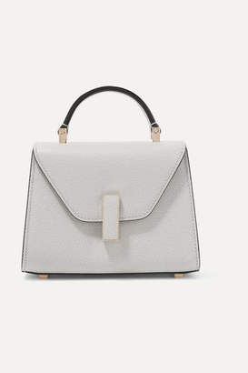Valextra Iside Micro Textured-leather Shoulder Bag - Stone