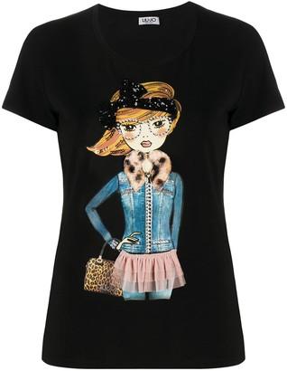 Liu Jo graphic print short-sleeved T-shirt