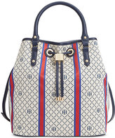 Tommy Hilfiger Hannah Diamond Jacquard Drawstring Bag