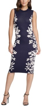 Vince Camuto Floral-Border Sheath Dress