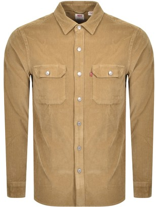 Levi's Levis Long Sleeve Jackson Worker Shirt Brown