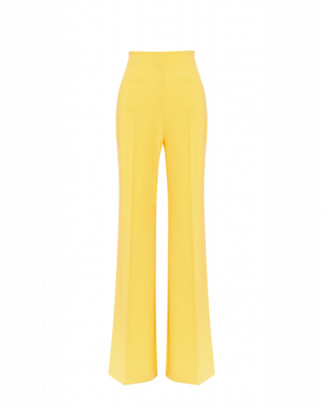 Boutique Moschino Palazzo Pants In Cady Woman Yellow Size 36 It - (2 Us)