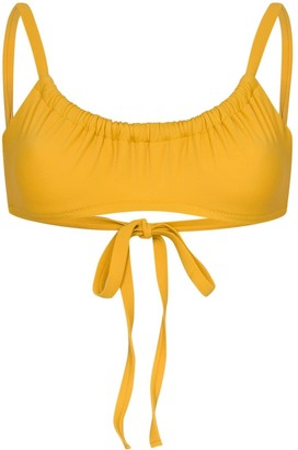 Araks Yash gathered bikini top