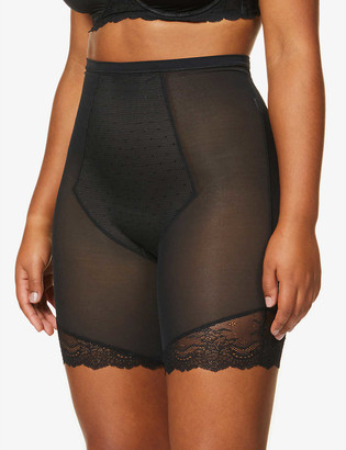 Spanx Spotlight on Lace super high-rise mesh mid-thigh shorts