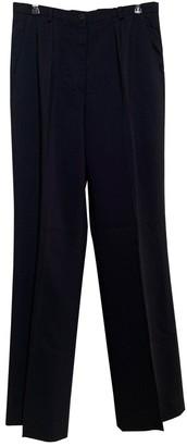 Cerruti Black Wool Trousers for Women