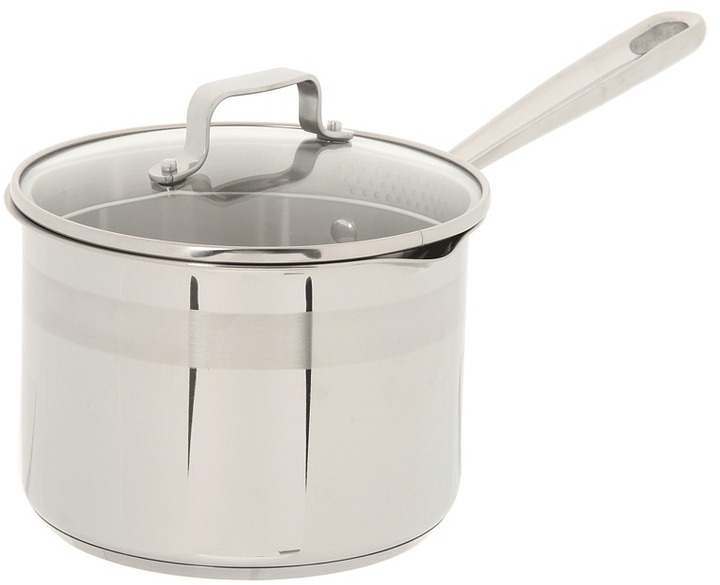 Emerilware Emeril - Chef's Stainless 3 Qt. Sauce Pan With Lid (Stainless Steel) - Home