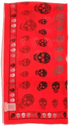 Alexander McQueen All Over Skull Print Scarf