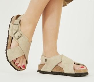 Birkenstock Tulum Cross Sandals Taupe