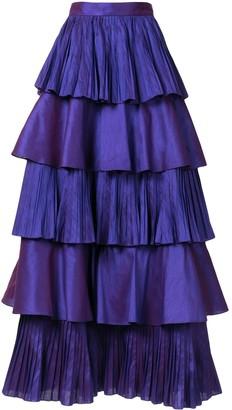 Bambah Perennial ruffled maxi skirt