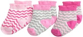 Jefferies Socks Chevron 3 Pack Girls Shoes