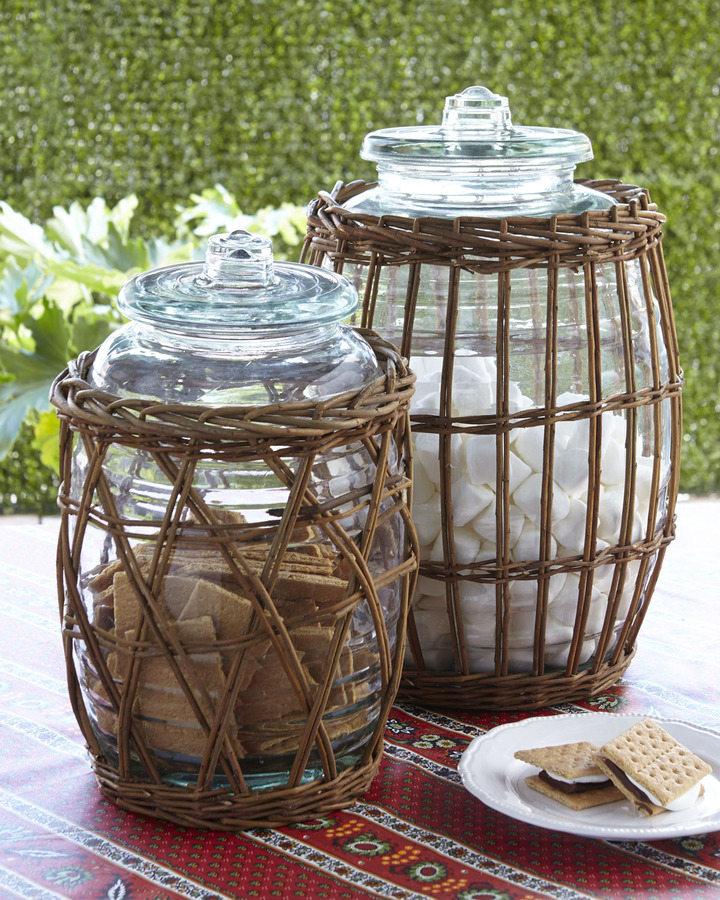 Horchow Park Hill Collections Willow-Wrapped Canisters