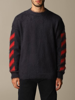 Off-White Off White Mohair Pullover With Big Rear Arrows