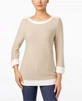 Karen Scott Metallic Threaded Sweater, Only at Macy's