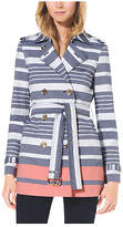 Michael Kors Striped Cotton Trench Coat