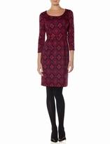 The Limited Printed Ponte Sheath Dress