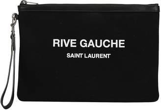 Saint Laurent Zipped Logo Pouch