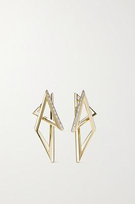 Stephen Webster Vertigo Infinity 18-karat Gold, Diamond And Enamel Earrings - one size