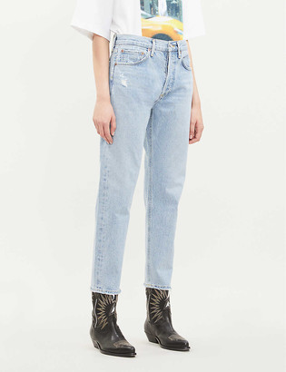AGOLDE Parker ripped straight high-rise jeans