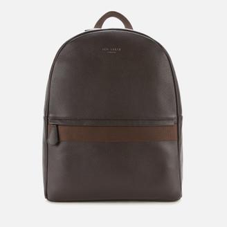 Ted Baker Men's Rickrak Webbing Strap Leather Backpack