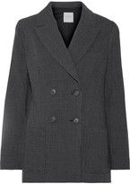Sea Prince Of Wales Checked Wool-crepe Blazer - Dark gray