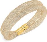 Swarovski Stardust Mesh Double-Wrap Bracelet