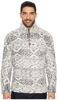 True Grit Frosty Tipped Tribal Pile 1/4 Zip Pullover