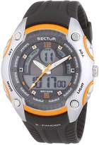 Sector Men's Digital Watch with LCD Dial Digital Display and Black PU Strap R3251574004