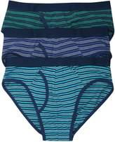 M&Co Pack of three stripe cotton briefs