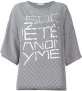 Societe Anonyme oversized front print T-shirt