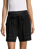 Tracy Reese High Rise Striped Pleat Short