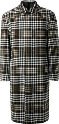 Ami Oversized Checked Wool-Blend Coat - Men - Gray