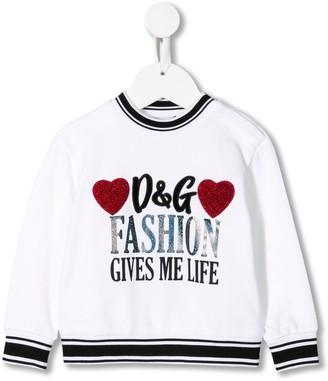 Dolce & Gabbana Fashion Gives Me Life print sweatshirt