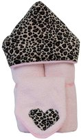 Tickle Toes - Minky Hooded Towel on Pink