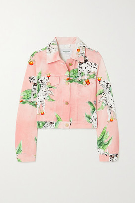 Casablanca Printed Denim Jacket - Pink