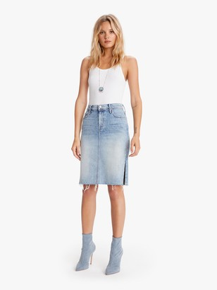 Mother The High Waisted Slice Knee Fray Skirt - 15 Minutes Of Fame