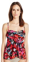 Fit 4 U Women's Flamenca 4 Ur Tummy Mesh Flared Twist Bandeau Tankini