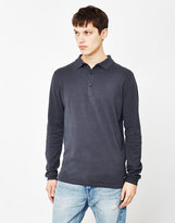 ONLY & SONS Elmo Knitted Polo Shirt Navy