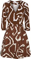 Diane von Furstenberg Jewel printed silk-blend wrap dress