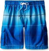 Kanu Surf Men's Big Vector Plaid Extended Size Swim Trunks