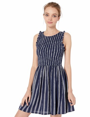 BB Dakota Junior's You can jive Stripe Smocked Dress