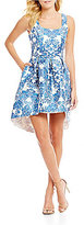 Teeze Me Scroll Print Fit-And-Flare Dress